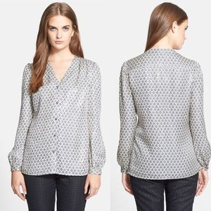 Tory Burch Silk Caralyn Shimmer Top Blouse 6